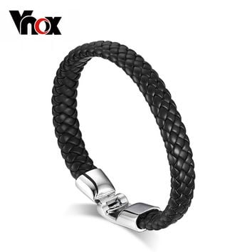Braided PU Leather Bracelets for Men Bangle & Bracelet Fashion Men Jewelry Black Coffee White