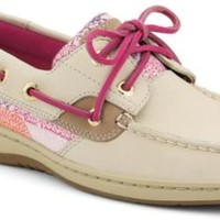 Sperry Top-Sider Bluefish Sequin 2-Eye Boat Shoe Oat/PurpleDotSequin, Size 8M  Women's Shoes