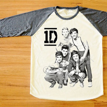 One Direction T-Shirt 1D T-Shirt Pop Rock T-Shirt Raglan Tee Shirt Long Sleeve Tee Shirt Women T-Shirt Men T-Shirt Baseball Tee Shirt S,M,L