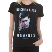 Supernatural No Chick Flick Moments Girls T-Shirt