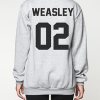 Ron Weasley Harry Potter Sweater Movie Deathly Hallows Shirt Sweatshirt Women Tee T-Shirt Unisex Jumper Grey Size S M L
