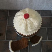 yummy cup cake hand knitted baby set 612 +month by handmadefuzzy