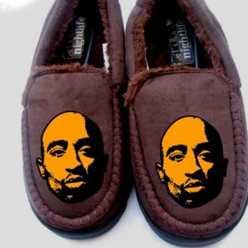 2pac tupac shakur Mens slippers i love hoodie personalised shirt boots notorious big