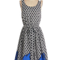 ModCloth Long Sleeveless A-line Office to Aperitifs Dress