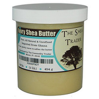 Hydrating Ivory Shea Butter, 16 OZ Rejuvenating Body Balm, Imperfection Corrector, Natural Hair and Skin Moisturizer For Dry, Acne Prone and Sensitive Skin. By The Shea Trader