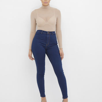 TRAP QUEEN HIGH WAIST STRETCH SKINNY JEANS