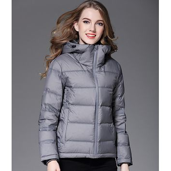 Women Thicken Coat 90% Duck Down Jacket Female Good Quality Hoodie Short Jackets Winter Coat Parkas