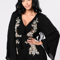 Like A Gypsy Romper - Black