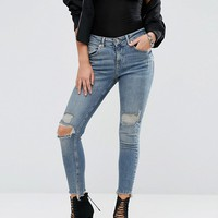 River Island Ripped Raw Hem Alannah Jean at asos.com