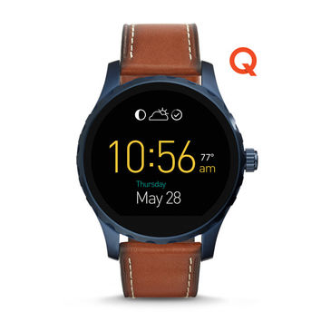 Q Marshal Touchscreen Brown Leather Smartwatch - $295.00