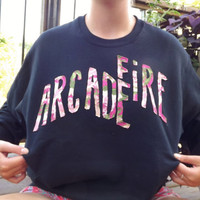 Custom Arcade Fire Crewneck Sweatshirt