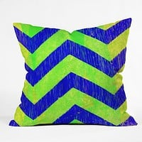 Sophia Buddenhagen Blue Green Chevron Throw Pillow