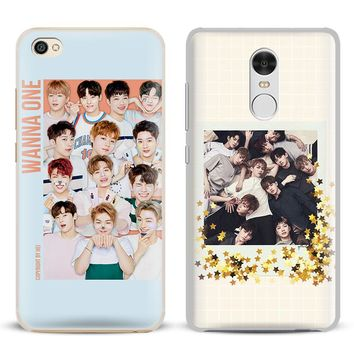 Wanna One Kpop Boy band Coque Phone Case Shell Cover For Xiaomi Redmi Note 4 4X 5A 6 6A PRO Mi 8 5 5S PLUS Max A1 Note 2 3