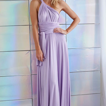 Purple Multi way Convertible Wrap Maxi Dress Dresses