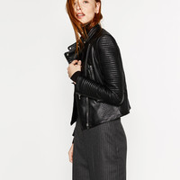 LEATHER EFFECT JACKET - View all-OUTERWEAR-WOMAN | ZARA United States