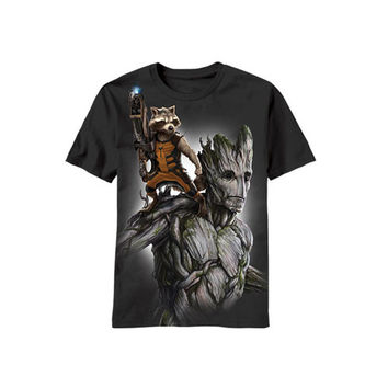 Guardians Of The Galaxy Rocket & Groot Fully Loaded Mens T-Shirt