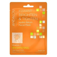 Andalou Naturals Sheet Mask, Instant Brighten Tighten - Pack of 6