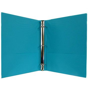 "1"" Hard Cover (PVC Free) 3-Ring Binder - Green - CASE OF 24"