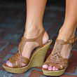 Perfect Summer Wedge: Brown | Hope's