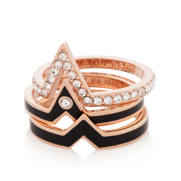 Chevron Stack Ring Set