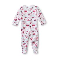 Small Wonders Newborn Girl's Footed Pajamas - Cupcake - Baby - Baby & Toddler Clothing - Sleepwear