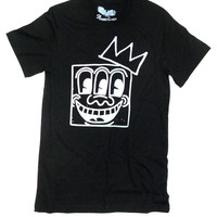 Keith Haring 3 eyes - Basquiat Crown Mashup Unisex T-shirt by American Anarchy Brand