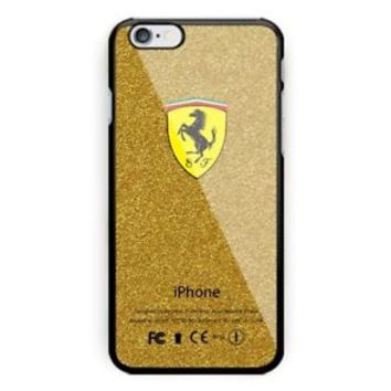 New Ferrari Gold Logo Luxury For iPhone X 8 8+ 7 7+ 6 6+6s 6s+ 5 5s Samsung Case
