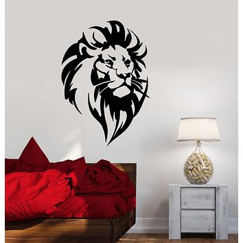 Vinyl Wall Decal Abstract Lion King Head African Predator Stickers (3874ig)
