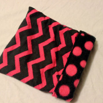 Pink and black chevron hedgehog bed