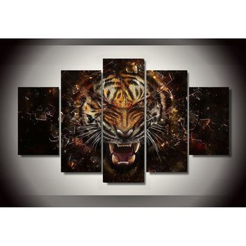 Home Decor Pictures Tiger Backgrounds Picture Painting Wall Art Room Decor Print Poster Picture Canvas Painting on the wall