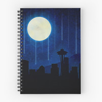 Seattle at Night by noondaydesign
