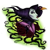 Maleficent Art Print by Katie Simpson