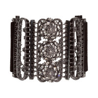 H&M - Rhinestone Bracelet - Black - Ladies
