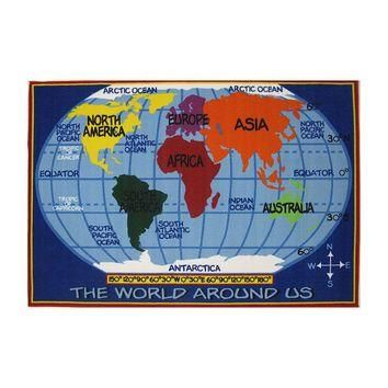 Fun Rugs Supreme World Map Rug