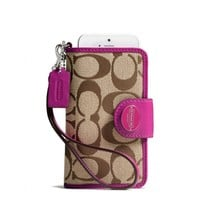 Coach :: Legacy Phone Wristlet In Signature Fabric