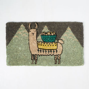 Llama, I'm Coming Home Doormat | Mod Retro Vintage Decor Accessories | ModCloth.com