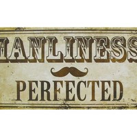 Manliness Perfected Metal Sign | Shop Hobby Lobby