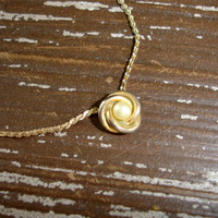 Vintage Tiny Pearl Necklace, Gold Tone Knot Setting, Faux Pearl Choker,  Dainty Delicate Layering Necklace, Estate Jewelry