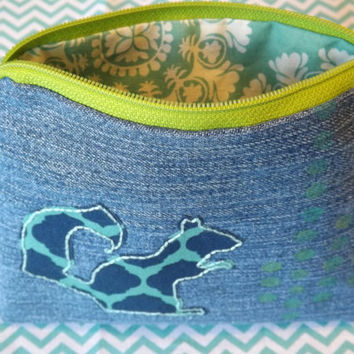 Zippered Squirrel Coin Purse