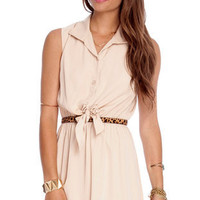 Meet Me Halfway Dress in Taupe :: tobi