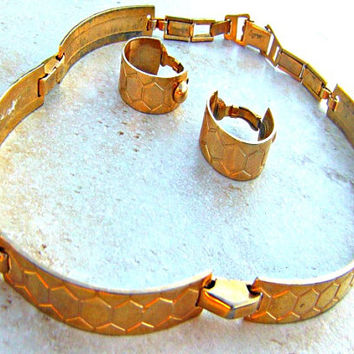 Vintage Brass Choker Set, Barclay Jewelry, Direct Checkout, Metal Jewelry Woman