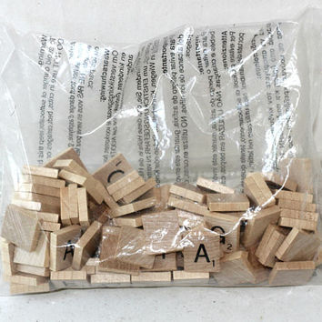 Scrabble Game Letter Tiles Replacement Package | Sealed Set of 100 Wooden Tiles | Scrabble Game Parts
