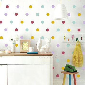 Mix Color polka Dots Wall Sticker wall decal, Removable home decoration art Wall Decor, wall art DQ447-2