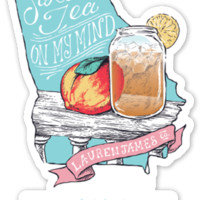 Georgia Sweet Tea Sticker – Lauren James Co.