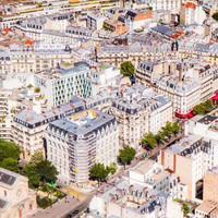 Paris from Above Fine Art Photography Print