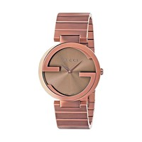 Gucci Interlocking G Brown Stainless Steel Swiss Quartz Ladies' Watch