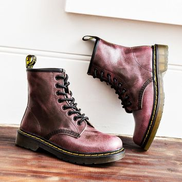 On Sale Hot Deal Leather England Style Dr. Martens Couple Winter Round-toe Boots [120850153497]