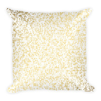 Gold Speckle Plush Pillow