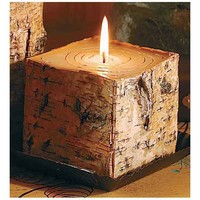 Wild Wings Birch Bark Square Candle