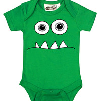 Wide Eyed Monster Green One Piece